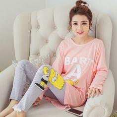 女性パジャマファッション女性の綿キャラクター素敵な甘いパジャマセットプラス長袖パジャマナイトウェアホーム着用服