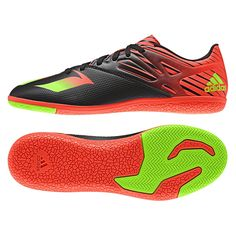 finest selection 76c31 4c6d6 Adidas Messi 15.3 Indoor Soccer Shoes (Black Solar Green Solar Red)    AF4846   Adidas Indoor Soccer Shoes   SOCCERCORNER.com