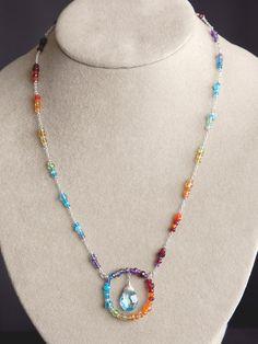 Harmony Scott Jewelry Design - Paradise Necklace   Rainbow Spectrum by Harmony Scott #harmonywishlist