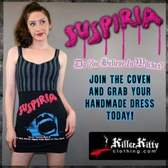 Suspiria Horror Movie Striped Tank Top Dress Horror Merch