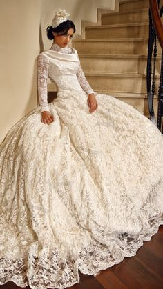 Арабский хиджаб свадебные платья с длинными рукавами 2015 новое поступление аппликации кружево белый Большой размер свадебное платье на заказ