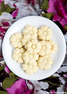 A recipe for German spritz cookies (Spritzgebäck), traditional butter cookies made during Christmas season.