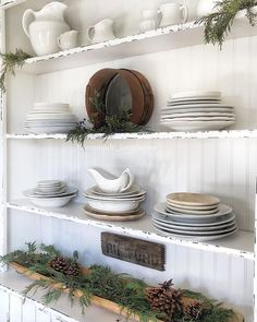 I have been taking down my Christmas decor & cleaning each space good as I go! It feels so good to get things cleaned… Farmhouse Style Decorating, Decorating Your Home, Farmhouse Decor, Farmhouse Ideas, Country Farmhouse, Modern Farmhouse, Farmhouse Remodel, Kitchen Remodel, Outdoor Christmas Decorations