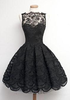 Black Floral Lace Round Neck Sleeveless Midi Dress