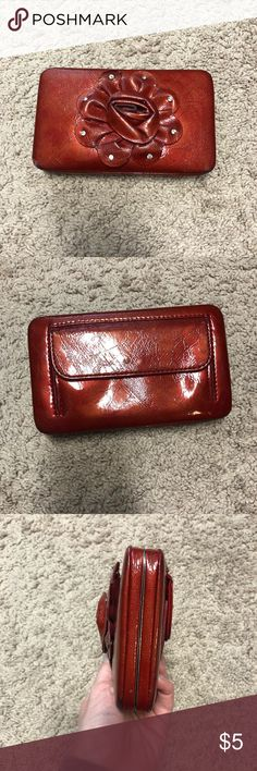Red Wallet Good condition. Multiple pockets, about 1-inch thick. Bags Wallets