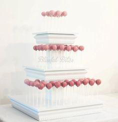 Cake Pop Cake. The setup makes them look like mini balloons! :)