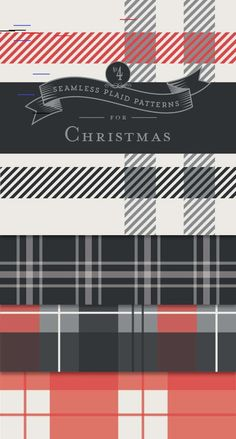 Seamless Plaid Patterns for Christmas   Designs By Miss Mandee FREE Seamless Plaid Patterns for Christmas - Designs By Miss Mandee. These four lovely patterns make great digital backgrounds or even wrapping paper for Christmas gifts! Download and print some for yourself.
