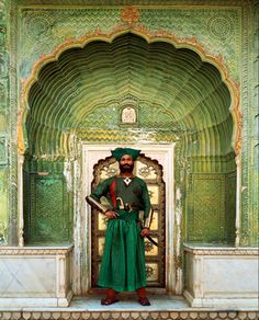 """The Indian""- a character in The Fall, movie by Tarsem Singh at Green Gate, City Palace, Jaipur, Rajasthan, India    http://www.maridari.com/wp-content/uploads/2009/08/tarsem_singh_thefall_movie.jpg"