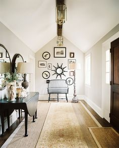 Foyer in Connecticut weekend home #decor #home #interiors