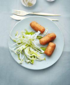 Garnelen-Kroketten Rezept - [ESSEN UND TRINKEN] Tapas Buffet, Finger Foods, Fries, Seafood, Spaghetti, Appetizers, Ethnic Recipes, Dessert, Vegan
