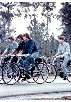 listening to The Beatles, is always a good moment.  Love all of their songs. Motivational cleaning music right here!  <3 Beatles on Bikes! <3