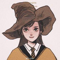 Disney Princess Art, Disney Fan Art, Character Inspiration, Character Art, Character Design, Disney Hogwarts, Disney Aesthetic, Harry Potter Fan Art, Cute Anime Pics