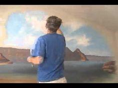▶ Painting a Beach scene - Mural Joe - YouTube