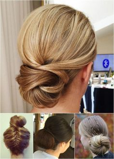 formal chignon and bun updos