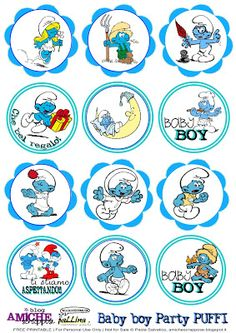 free puffi tag Printable Banner, New Baby Products, Projects To Try, Birthdays, Dads, Techno, Cartoon, Stickers, Disney