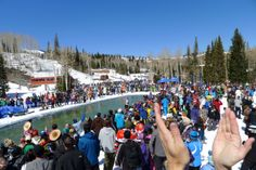 A full house, a dinner party, pedicures, fishing, sunshine, live music, and shenanigans at The Canyons Resort. Pond-skimming 2014. Welcome Spring!