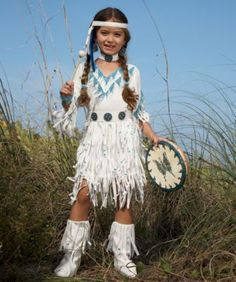 This is what Paige wants for next years costume.  Native American Princess girls costume