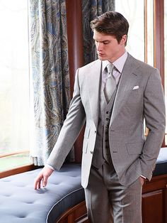 Custom Bespoke Chocolate Linen 3-Piece Summer Suit with Notch ...