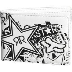 Fox Racing Rockstar Collage Wallet - White by Fox Racing. $19.99. Fox Racing Rockstar Collage Wallet The Rockstar Collage Wallet features an awesome Fox headRockstar logo collage, and a super durable construction so you can organize your cash and cards in style for years to come. 100% polyurethane