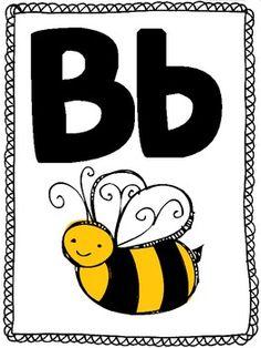ABC- ALPHABET- POSTER SET! Letter Recognition, Recognition Ideas, Abc Poster, Posters, Abc Alphabet, Bee Keeping, Teaching English, Language Arts, Classroom
