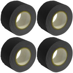 Gaffer's Tape - Black - 3 inch (4 Pack)