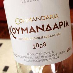 #TerroirCyprus #Tsiakkas #Winery #Commandaria 2008 #Troodos Mountain