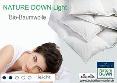 Bio-Baumwoll Duvet NATURE DOWN Leicht Exklusive Heimtextilien für guten Schlaf in bester Qualität ✔ für Ihr Schlafzimmer ♥ günstige Bettwaren kaufen Sleep Better, Comforters Bed, Bedroom