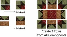 Assemble the Arizona Quilt Block