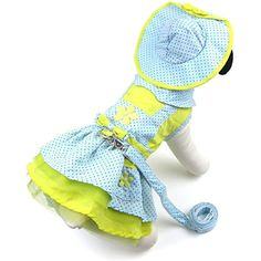 Alfie Pet by Petoga Couture - Penrose Polka Dot Dress with Hat, Matching Panties and Leash Set - Color: Blue, Size: XS *** Read more reviews of the product by visiting the link on the image. (This is an affiliate link) #Dogs