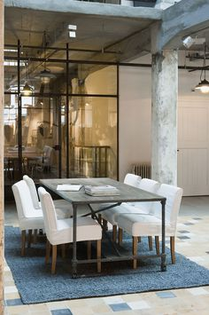 industrial spaces, clean and classy