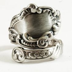 Marie Antoinette Spoon Ring in Victorian Rococo Swirls by Spoonier