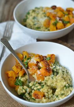 #Recipe: Barley Risotto with Kale and Butternut Squash