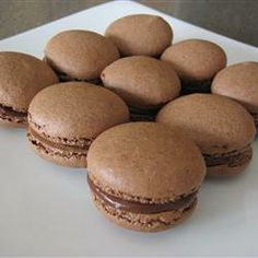 Macaron (French Macaroon) Recipe - Allrecipes.com. Video for chocolate ones