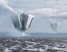 Spaceship Art, Spaceship Concept, Futuristic Art, Futuristic Technology, Space Fantasy, Fantasy Art, Aliens, Moon Projects, Sci Fi Games