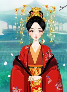 Lễ sắc phong ngũ công chúa - Phượng Tịnh An Chinese Style, Chinese Art, Chinese Fashion, Chinese Drawings, Japanese Quilts, Creative Pictures, Disney Fan Art, Princess Zelda, Disney Princess
