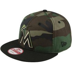 MLB New Era Miami Marlins Custom 9FIFTY Snapback Hat - Camo/Black by New Era. $27.95. Contrast-colored flat bill. Six panels with six contrasting eyelets. Adjustable slide closure with snap button. Quality embroidery. Structured fit. New Era Miami Marlins Custom 9FIFTY Snapback Hat - Camo/Black80% Cotton/20% WoolStructured fitOfficially licensed MLB productQuality embroideryContrast-colored flat billAdjustable slide closure with snap buttonImportedSix panels with six contrasting...
