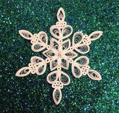 Quilled Paper Snowflake Paper Filigree by hmmmm