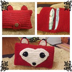 Free crochet foxy diaper case  Cute and quick babyshower gift  As mom I always have some diapers and wipes