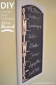 DUDE....Gotta do this so the kids will know in advance what they AREN'T going to eat!!! Also...wicked easy to do.