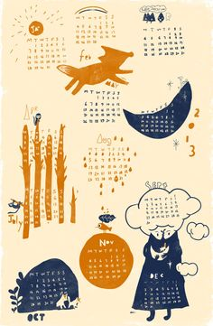 2013 sansu calendar by sansu on Etsy, $15.00