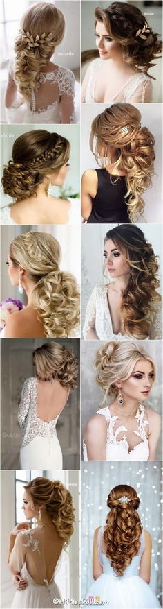 bride-wedding-hairstyles-for-long-hair-that-will-inspire bride-wedding . - Lange Haare - bride-wedding-hairstyles-for-long-hair-that-will-inspire bride-wedding… – # hairstyles - Wedding Hairstyles For Long Hair, Wedding Hair And Makeup, Up Hairstyles, Pretty Hairstyles, Hair Makeup, Bridal Hairstyle, Elegant Hairstyles, Hairstyle Wedding, Engagement Hairstyles