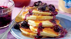 Ricotta Pancakes with Brown Butter-Maple Syrup - Southern Living