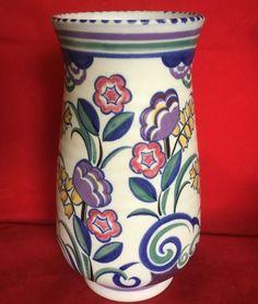 Vintage Early Poole Pottery Carter Stabler Adams Rene Hayes Shape 979 Vase