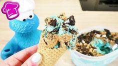 Cookie Eis für das Krümelmonster | Vanille Eis mit Oreo Keksen | Super e...