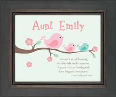 Items Similar To AUNT Personalized Gift