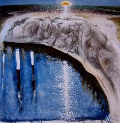 Paintings - Brett Whiteley - Page 2 - Australian Art Auction Records Australian Painting, Australian Artists, Abstract Landscape, Landscape Paintings, Landscapes, Decoupage On Canvas, Watercolor Canvas, European Paintings, Fine Art Auctions
