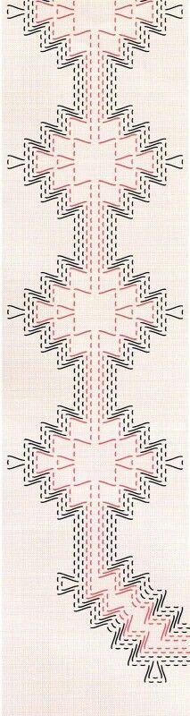 Tan' par fa: Punto filza, lanciato, dei pionieri, vagonite, jugo etc. Ribbon Embroidery, Embroidery Stitches, Embroidery Patterns, Cross Stitches, Loom Patterns, Swedish Weaving Patterns, Swedish Embroidery, Monks Cloth, Chicken Scratch