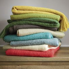 stacks - West Elm Textured Favorite Throws  $29.00