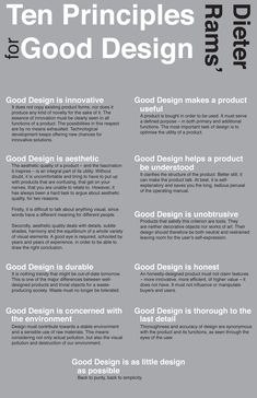 Ten principles for Good Design, by Dieter Rams