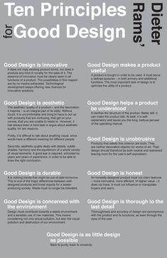 Ten principles for Good Design, by Dieter Rams